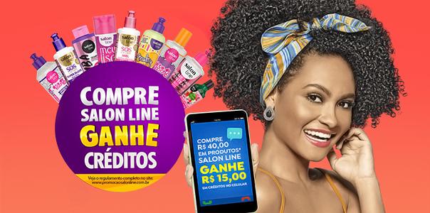 Compre Salon Line, Ganhe Recarga de Celular - Blog Danny Cosméticos