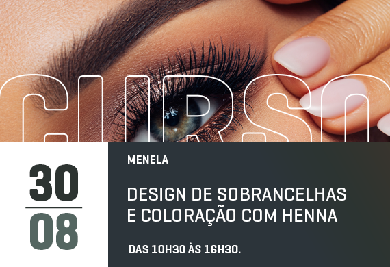 Menela: Design de sobrancelhas e coloração com henna - Curso Danny Cosméticos